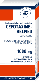 Cefotaxime sodium, powder for solution for injection 500mg and 1000mg