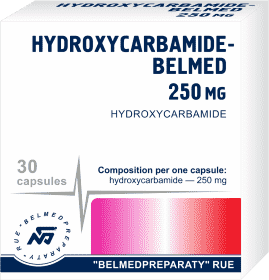 Hydroxycarbamide, capsules 250 mg, 500mg
