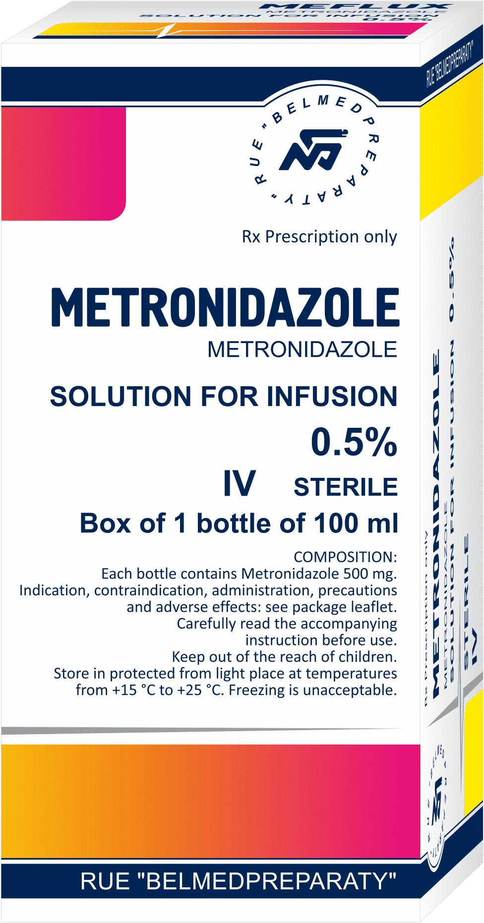 Metronidazole, solution for infusions 5 mg.ml