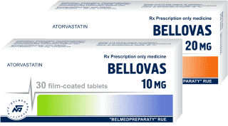 Atorvastatin, film-coated tablets 10mg, 20mg