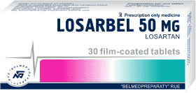 Losartan, film-coated tablets 50 mg, 100 mg